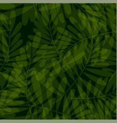 Green tropical seamless pattern vector