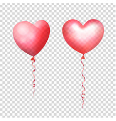 inflatable air flying balloons in form of hearts vector image