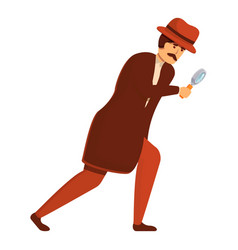 Investigator research icon cartoon style vector