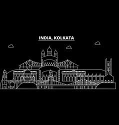 Kolkata silhouette skyline india - kolkata vector