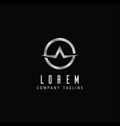 Luxury letter a emblem logo design concept vector