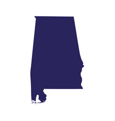 map of the us state of alabama vector image