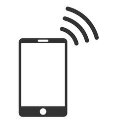 Mobile wi-fi signal flat icon vector