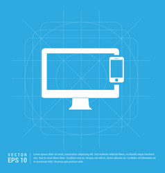 mobile with monitor icon vector image