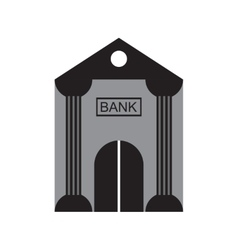 Modern flat icon Bank building on white background vector