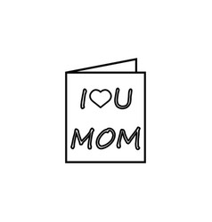 mothers day greeting card icon vector image