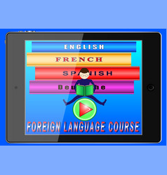 online foreign language courses vector image
