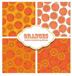 Oranges colored doodle seamless pattern vector image