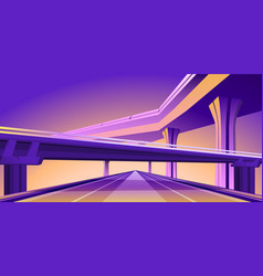 overpass viaduct bridge vector image