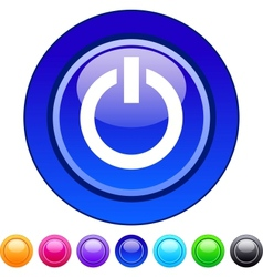 Power circle button vector image