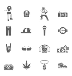 Rap Music Icons vector image