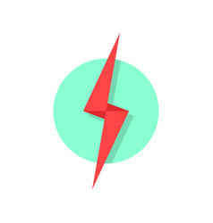 Red lightning icon like flash logo vector