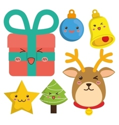Reindeer and cartoons of Chistmas design vector