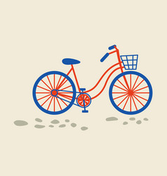 retro bicycle with bin on front wheel vector image