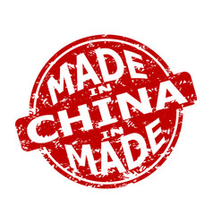 Rubber stamp made in china texture seal vector