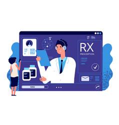 rx prescription online medical app online vector image