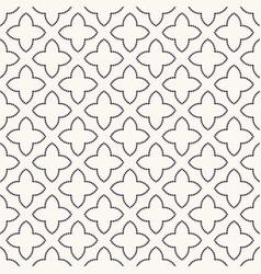 Seamless pattern hand drawn petal star trellis vector