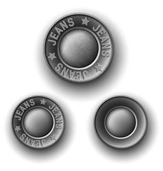 Set of gray metal button vector