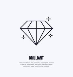 shining brilliant diamond jewelry vector image