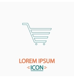 Shopping cart computer symbol vector