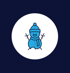 snowman icon sign symbol vector image