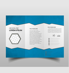 square geometric business tri-fold leaflet vector image