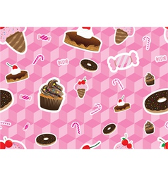 Sweeties Seamless Pattern vector image