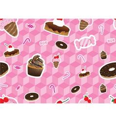 sweeties seamless pattern vector image