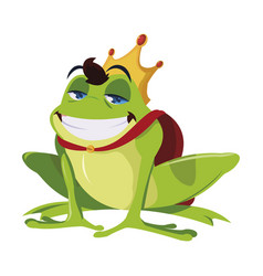 Toad prince fairytale character vector