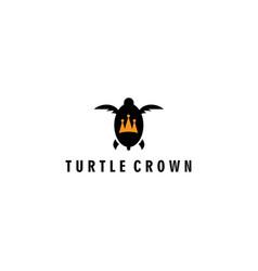 Turtle logo icon crown vector