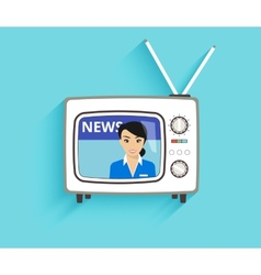 tv news vector image