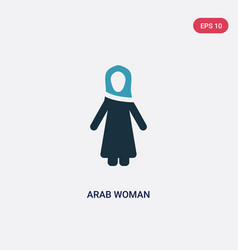 two color arab woman icon from people concept vector image