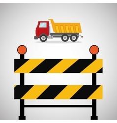 Under construction design supplies icon barrier vector image
