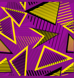urban art sport abstract seamless pattern vector image