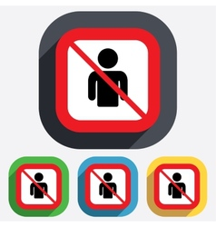 User not allowed sign icon Person symbol vector