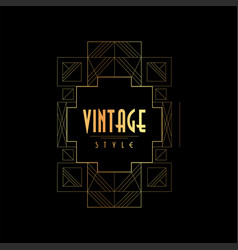 vintage style gold and black vector image