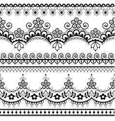 Wedding french or english lace seamless pattern vector