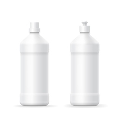 White blank plastic bottle for dishwashing vector image