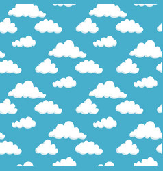 white cumulus clouds on a blue sky vector image