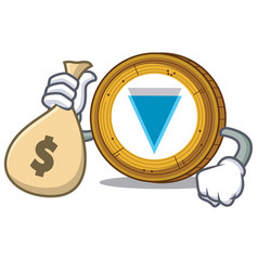 With money bag verge coin character cartoon vector