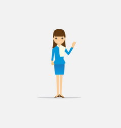 woman with blue dress flat design vector image