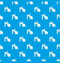 Women shoe pattern seamless blue vector