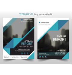blue black triangle brochure annual report vector image vector image