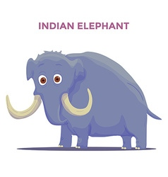 Cartoon indian elephant isolated on white vector