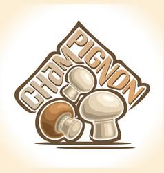 champignon mushrooms vector image