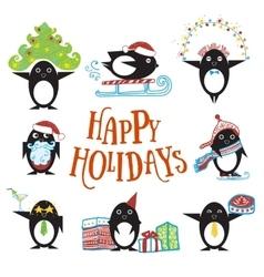 Penguin cartoon character vector image vector image