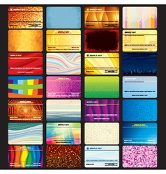 Set of Abstract Business Cards vector image vector image