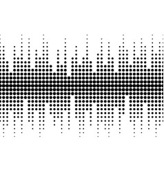 sound waves seamless pattern different sized dots vector image