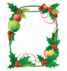 01 frame from christmas holly vector image