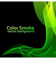 Abstract green smoke vector image vector image
